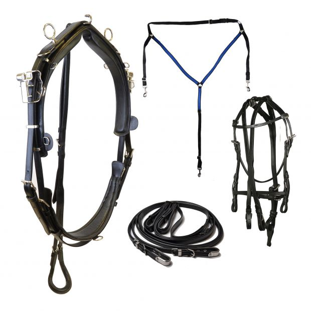 Star Tack Harness complete QH leather