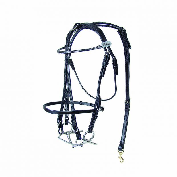 Walsh Open bridle with overcheck leather