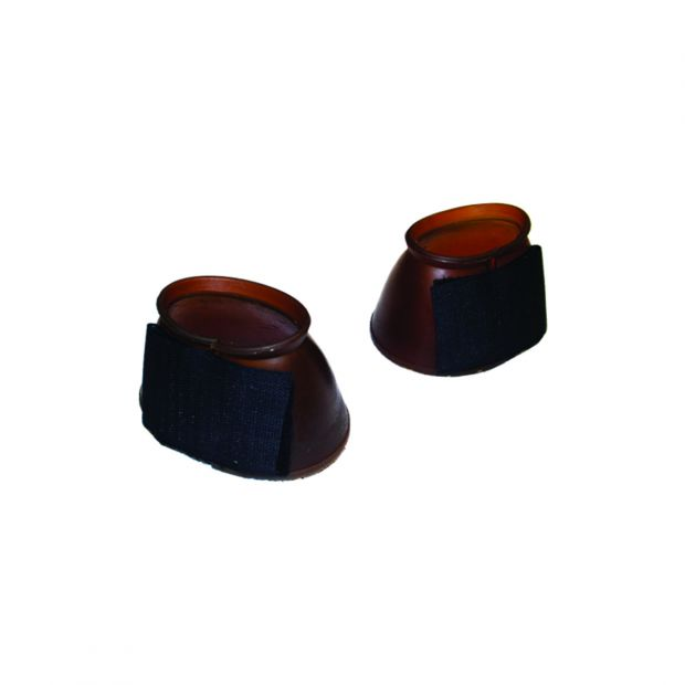 Pony bell boots with velcro, pair