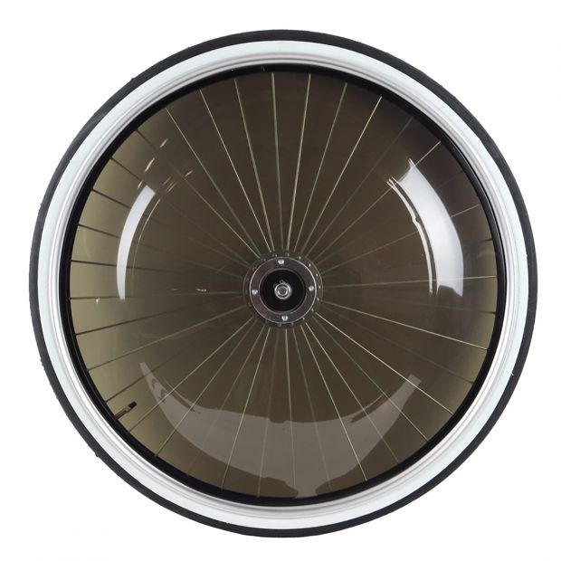 "Sulky wheel standard 28"" with dark PVC-covers"