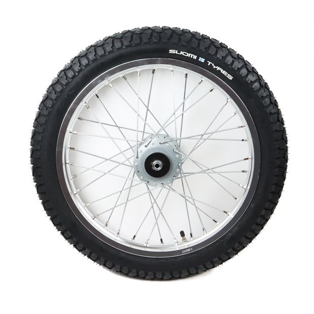 "Training cart wheel with Suomi-Tyres 17"" x 2.75"""