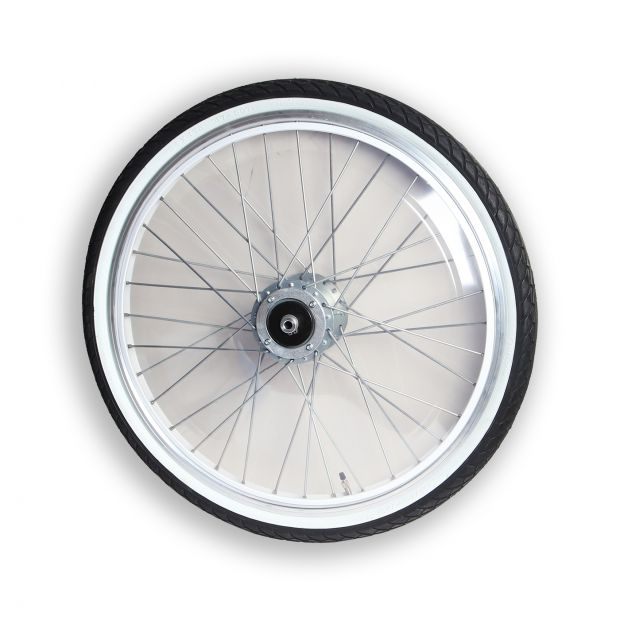 "Pony Sulky wheel 24"" standard with PVC-covers"
