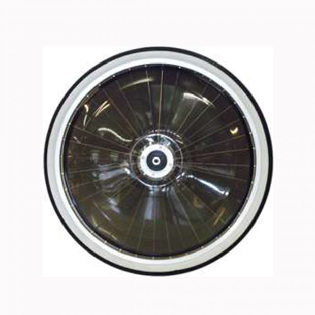 "Pony Sulky wheel 22"" standard with dark PVC-covers"