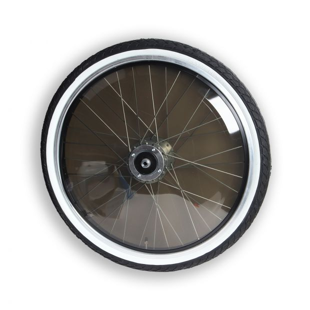 "Pony Sulky wheel 24"" standard with dark PVC-covers"