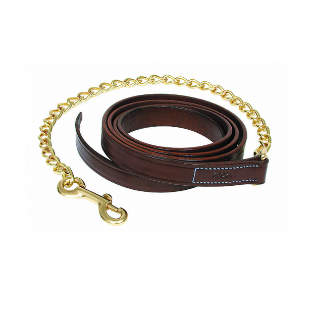 Walsh Leather lead rope with chain