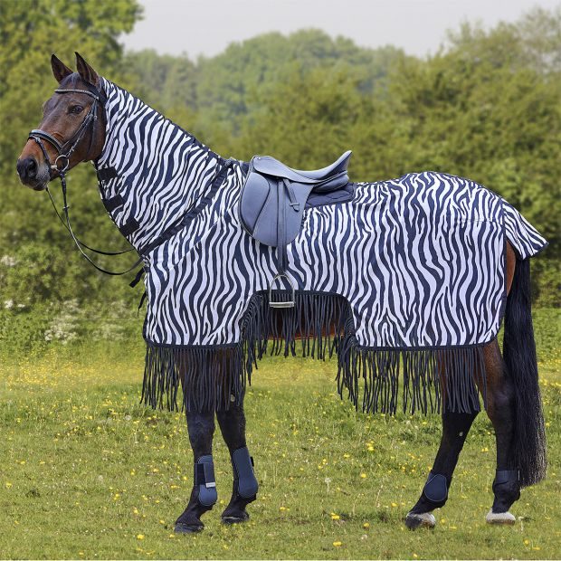 Waldhausen Zebra Exercise Fly Sheet with ringe