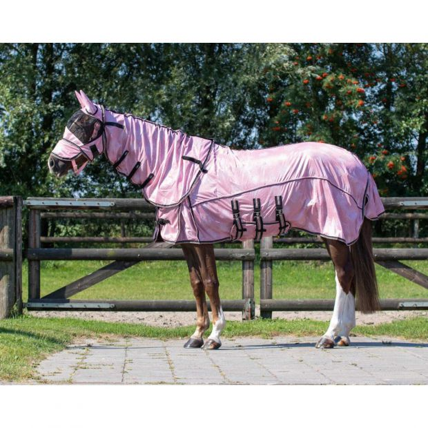 QHP Blossom Anti-fly rug with neck and mask