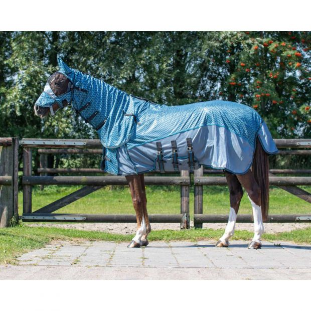 QHP Zigzag Anti-fly rug with neck and mask