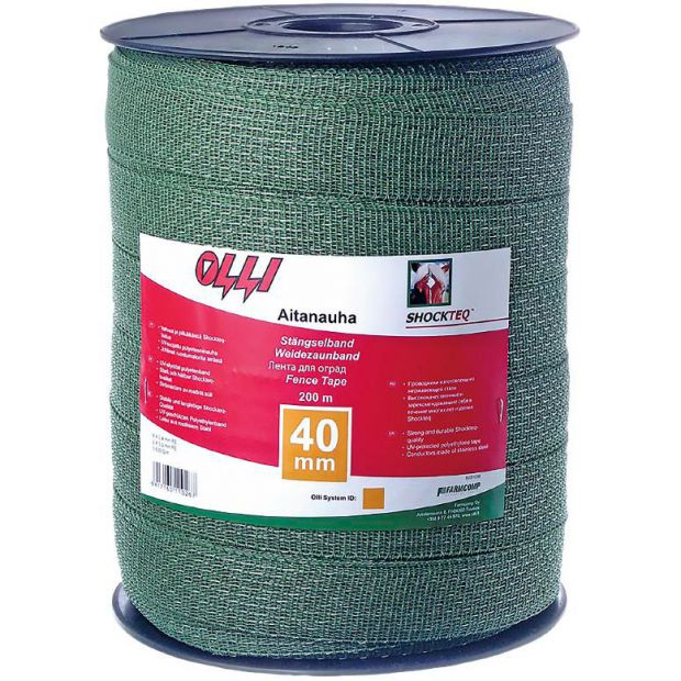 Olli Shockteq Tape green 40mm 200m