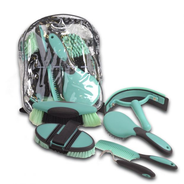 Equitare Grooming kit with bag and brushes