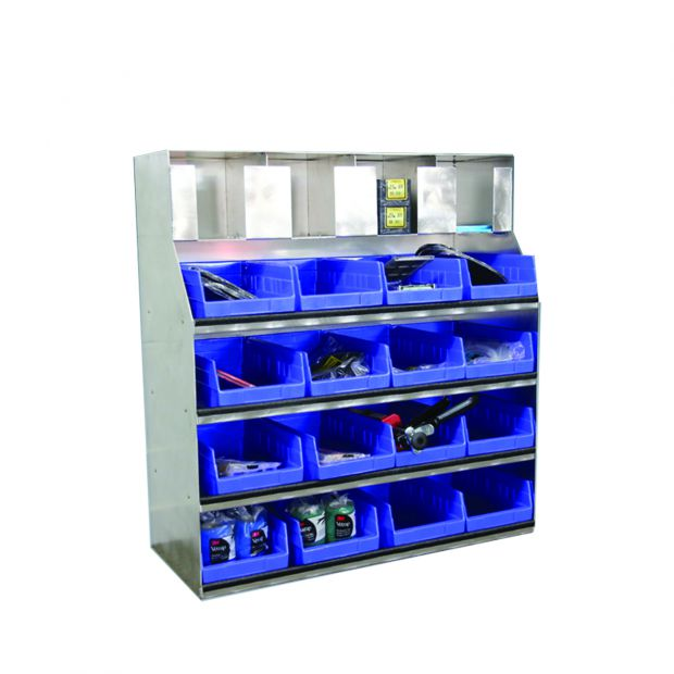 Kerckhaert Shelf unit 4-4 Incl. plastic tray