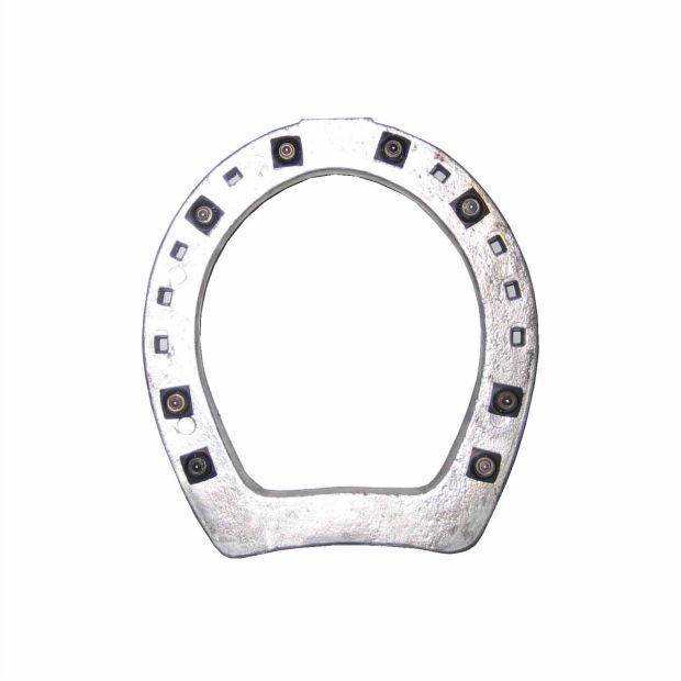 Cawe Aluminium ring shoe with 6 x 10 mm studs