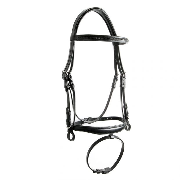 Equitare Blackstone Bridle with supergrip reins