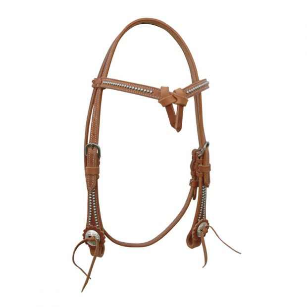 Pools western bridles with knotted browband and reins