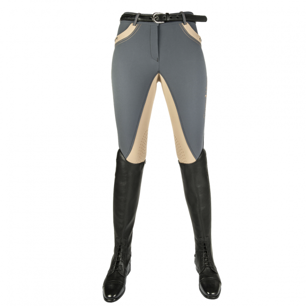 HKM Silver Stream Riding breeches with silicone knee grip