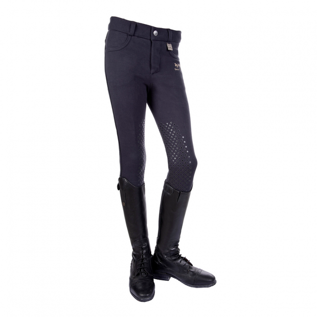 HKM Kids Easy Breeches with knee grip