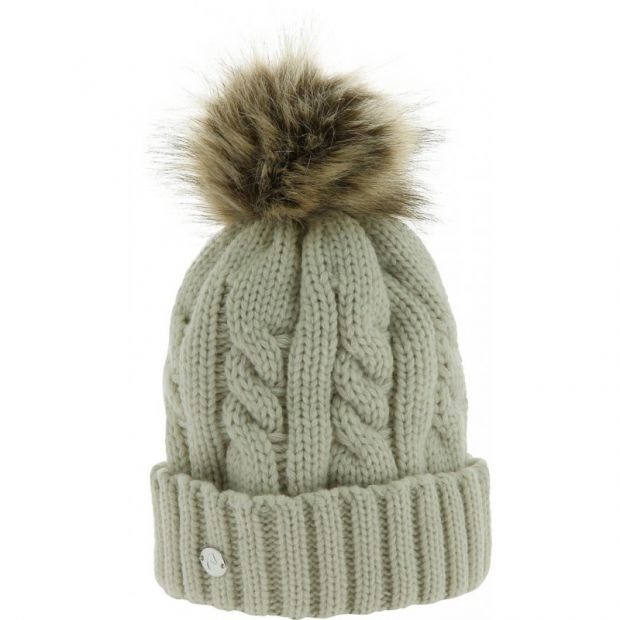 Equi-Theme knitted hat with pompom fleece lining