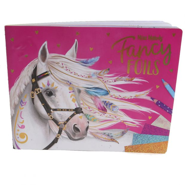 Miss Melody Fancy Foils coloring book