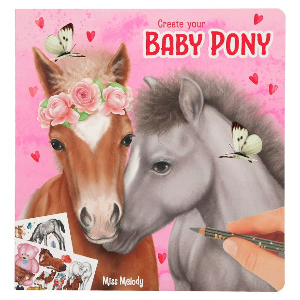 Miss Melody Create your Baby Pony coloring book