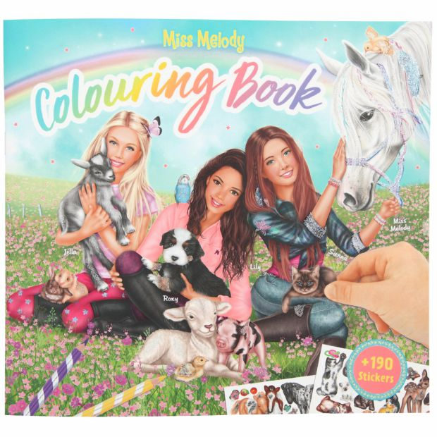 Miss Melody coloring book animals