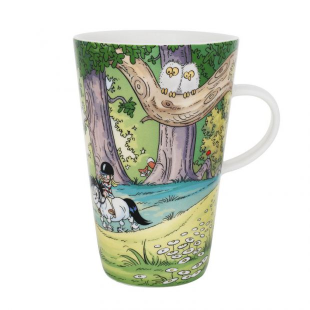 Bandit the Pony In the Woods Latte Mug