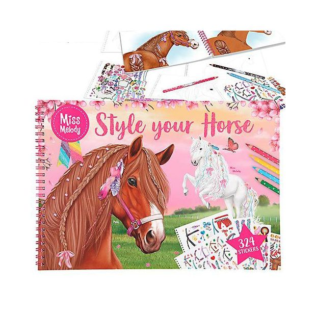 Miss Melody Style your Horse coloring book