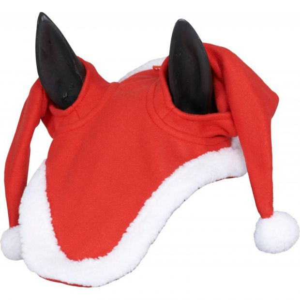 Christmas santa hat for horse