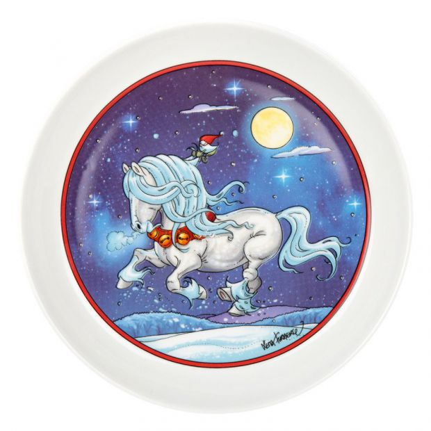 Lena Furberg Horses Plate Christmas Jingle bell